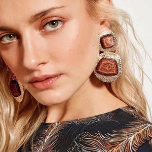 Jewelry - Brown stone drop earrings